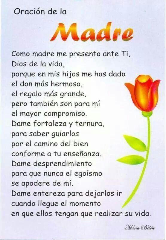 Oración de la madre...