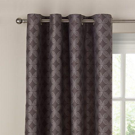 buy john lewis kaleidoscope lined eyelet curtains grey. Black Bedroom Furniture Sets. Home Design Ideas