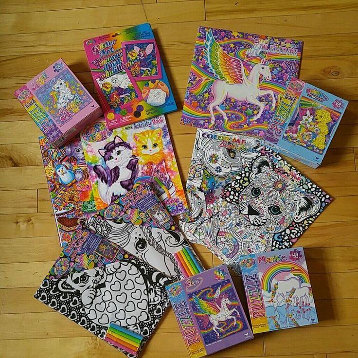 Lisa Frank Lot Adult Coloring Books Calendar 2017 Puzzles Activity