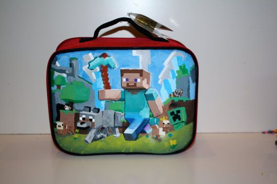 Minecraft Lunch Box Custom Artwork Pick Your Image