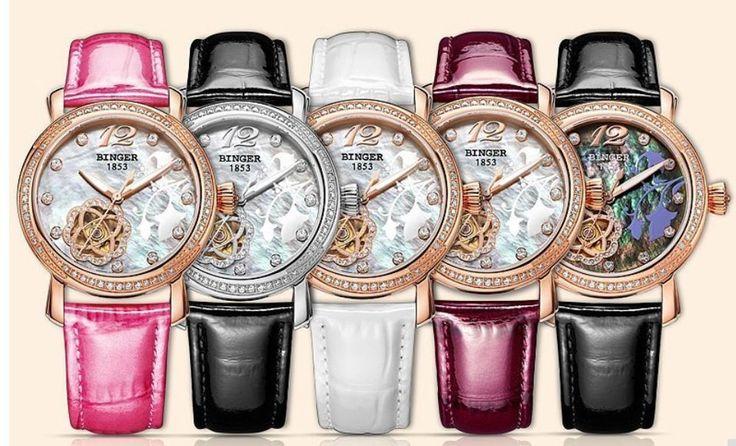 Binger, Damen Uhr, Lederarmband, Automatik, mechanische Armbanduhr | Uhren & Schmuck, Armband- & Taschenuhren, Armbanduhren | eBay!