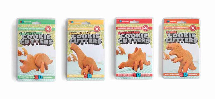 Cookie cutters - formine per biscotti. Formine per biscotti per creare animali e dinosauri in 3d.