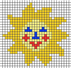 KleuterDigitaal - wb strijkkralen zon