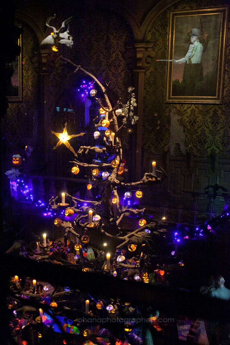 haunted house lighting ideas. Disneyland // Haunted Mansion Holiday Ballroom Christmas Tree House Lighting Ideas