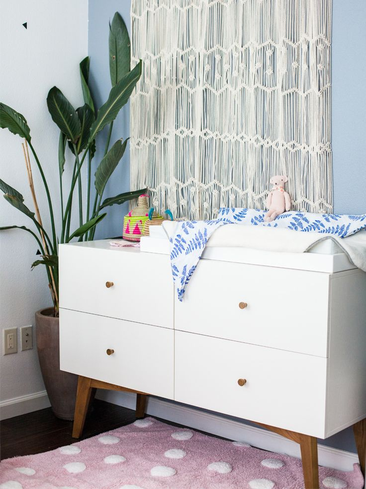 A Little Bundle Nursery Reveal A clean and quirky baby space for a mama with serious taste. West Elm Changing Table
