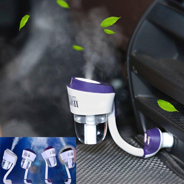 Nuevo humidificador de vapor de auto Nanum ii de 12 v con 2 pc, USB cargador de auto, difusor de aceite aromático purificador del aire, nebulizador generador de niebla de aromaterapia