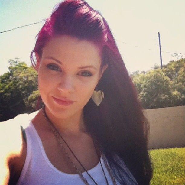 Dark Cherry Coke Hair With Violet Highlights Google