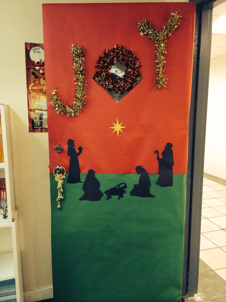 Christmas themed school door decor | School Year Ideas ...