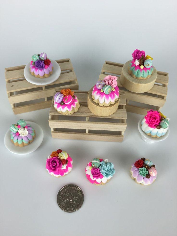 Indulgence Bunt Cakes -Dollhouse Food by PetiteBoulangerieAU on Etsy https://www.etsy.com/listing/235661297/indulgence-bunt-cakes-dollhouse-food