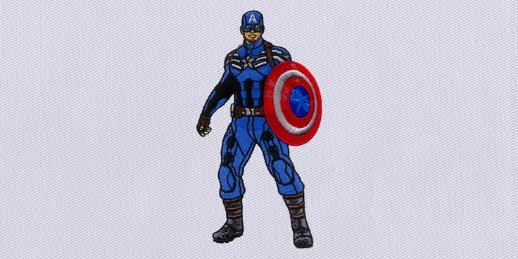 Captain America is one of the finest Marvel characters, given digital makeover in this Captain America free embroidery design, available to you as a gift.