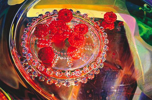Mary Pratt's Raspberries Reflecting Summer is maybe my favourite painting  ever