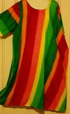 Big Big Plus Maxi dress Christmas rainbow 22 24 26 28 + Soft rayon One Size no.B