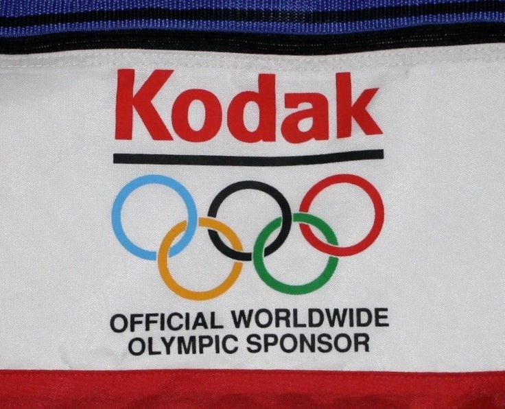 Vintage KODAK Official Worldwide Olympic Sponsor Gym Duffel Carry On Bag LA OLY