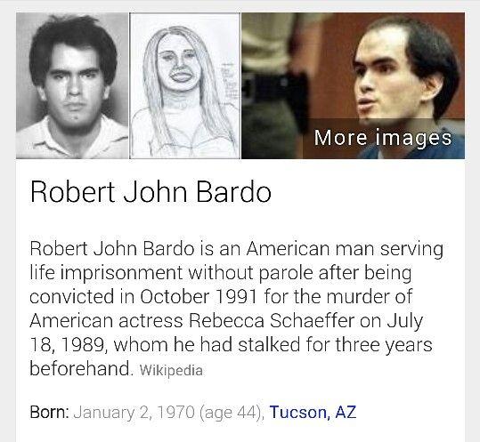 Robert John Bardo murderer of Rebecca Schaeffer