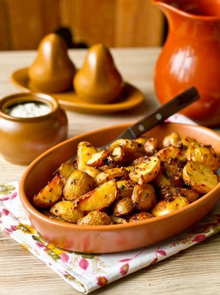 Остро-пряный печеный картофель