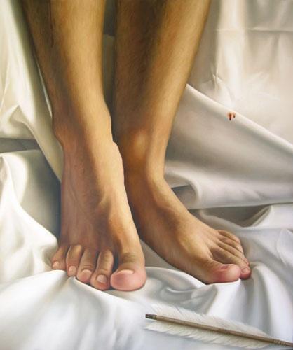 Omar ortiz pintura leo e acr lica pinterest - Cuadros de pies ...