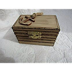 Rustic Wedding Woodburned Ring Box Personalized Nautical Rustic Beach