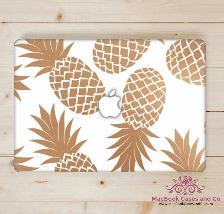 Gold Pineapple MacBook Case.  Pineapple Macbook Case. Top and Bottom Hard Plastic MacBook Case by MacBookCasesandCo on Etsy