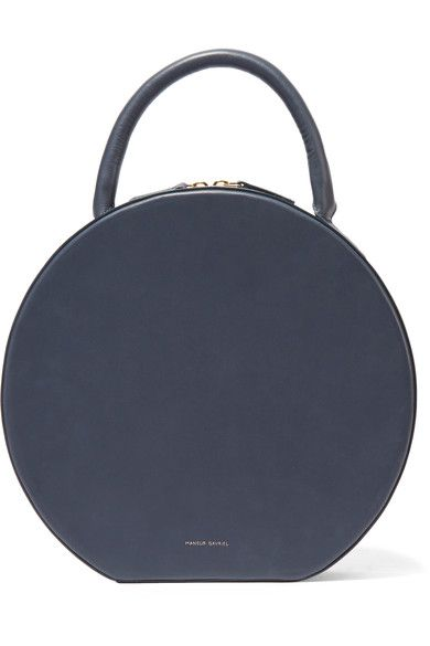 Crafted from storm-blue leather that will develop a unique patina over time, Mansur Gavriel's 'Circle' tote has a round, structured frame and opens to a pocketed suede-lined interior. We love the brand's discreet gold designer stamp.