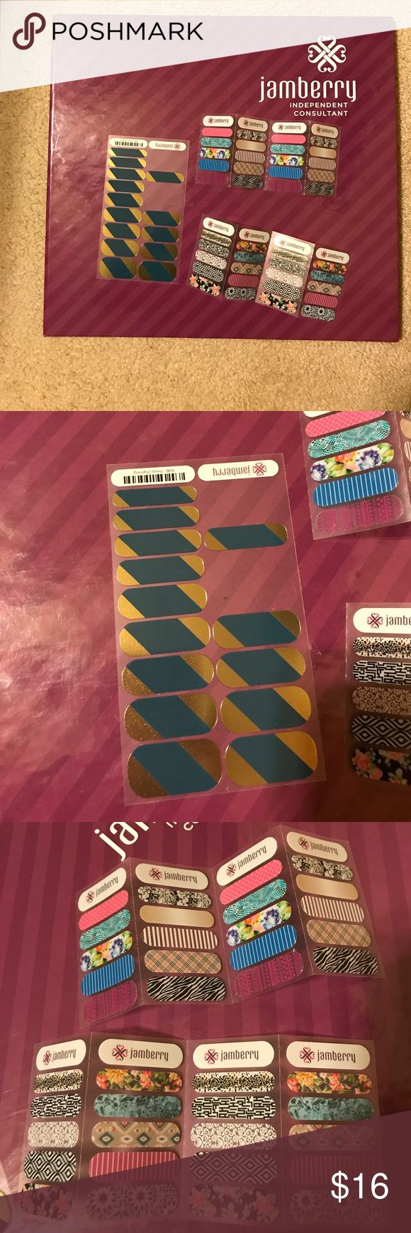 Jamberry custom bundle Jamberry custom bundle - album, Prince Charming, sample sheets Jamberry Accessories