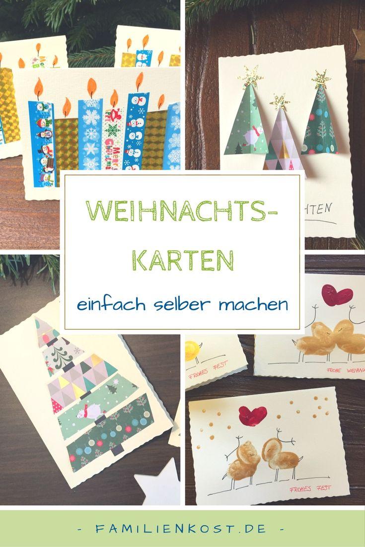 Weihnachtskarten basteln | Basteln | Pinterest | Basteln ...