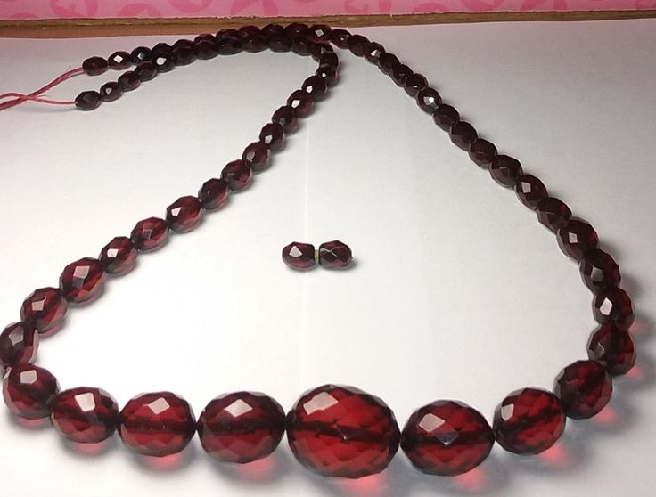 Cherry Amber Faceted Bakelite Beads by Oliviarosestone on Etsy