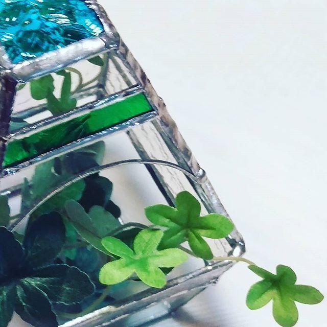 【pinkamelove】さんのInstagramをピンしています。 《昨日のとお揃い.*・゚ * * テラリウム作ってみたくて作ったら中に 入れるグリーンも早くから用意してて(笑) やっとこちらも完成( ´艸`) 今度はぶら下げるやつ欲しいな〜 * * #ステンドグラス #stainedglass #ハンドメイド  #手づくり  #てづくり #leaf  #ステンドグラステラリウム  #テラリウム》