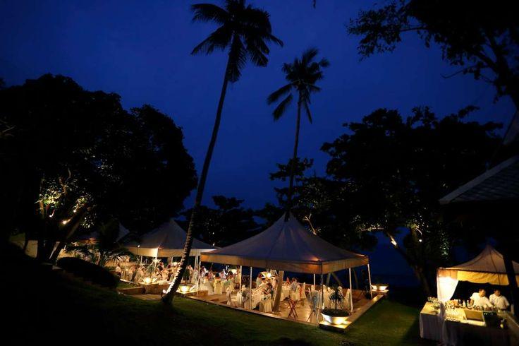 From day...to night. #farawayweddings #weddingsinthailand #pawanthornluxuryvillas