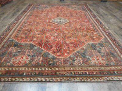 C1930 Antique Perjan Qashqai Yalameh Viss Serapi Heriz 7x10 Estate