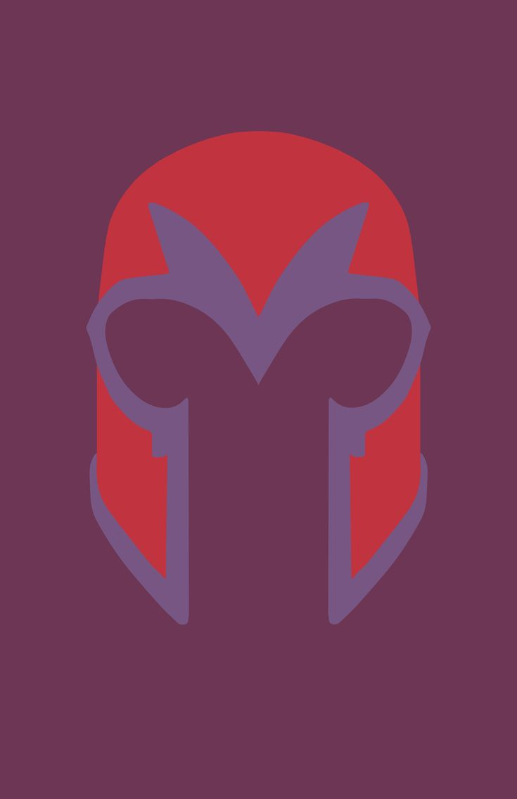 Magneto minimalist helmet design by Minimalist Heroes.