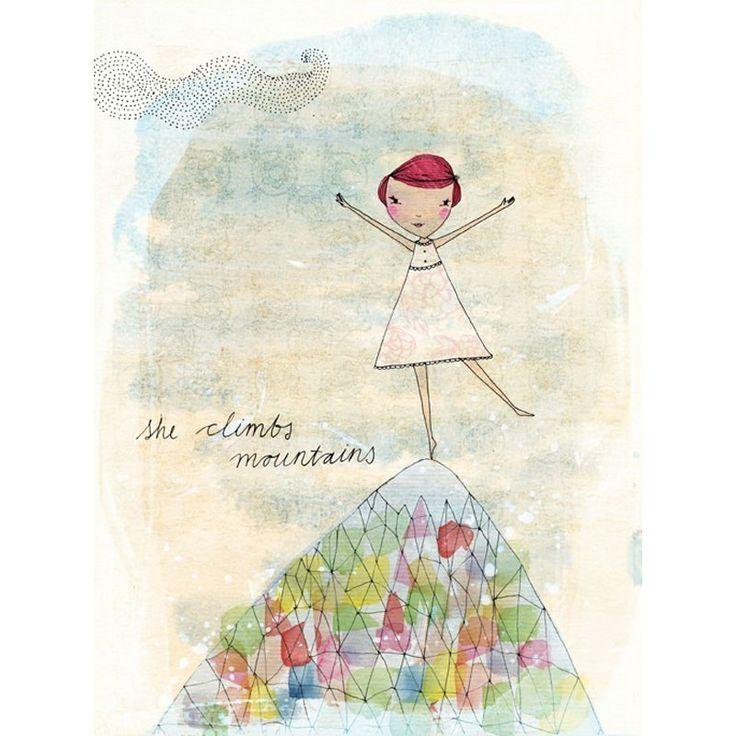 She Climbs Mountains   Card