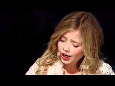"""Jackie Evancho in HD """"O Holy Night"""" at the National Christmas Tree Lighting - what an incredible voice for such a young person-mature way beyond her years!!"""