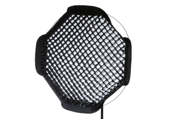 For directional soft light add this fabric grid to your Ezybox II Octa Medium softbox (LL LS2720).