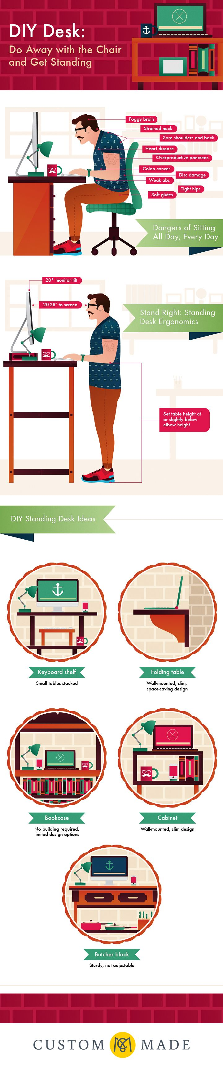 die besten 25 diy standing desk ideen auf pinterest stehpulte rednerpult und laptopgestell. Black Bedroom Furniture Sets. Home Design Ideas