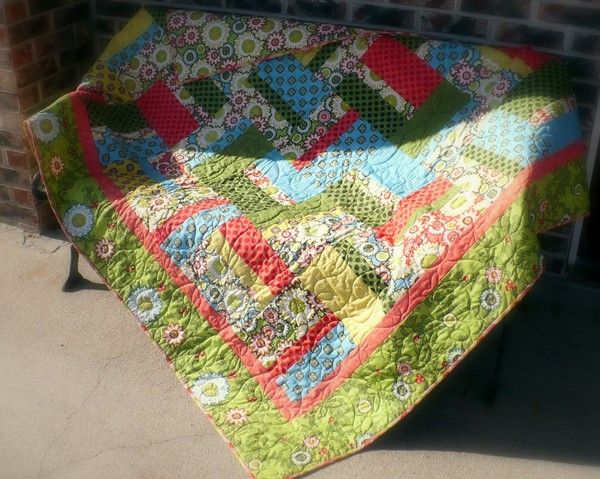 Cute quilt top free tutorial on from cutting Corners college-Riley Blake Designs