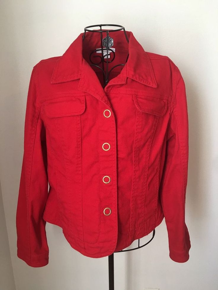 1000  ideas about Red Denim Jacket on Pinterest | Cropped denim