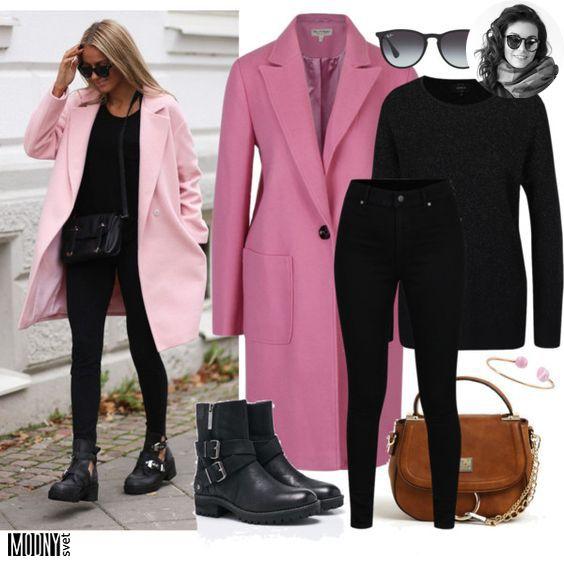Buď trendy vo farebnom kabáte! Všetko čo má čierny základ vyzerá štíhlo 67834c2e8fe