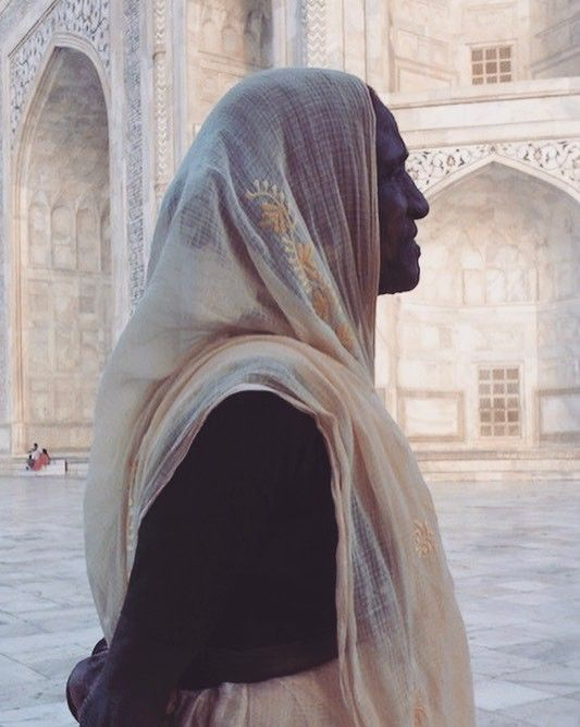 Lady at Taj Mahal, Agra, India