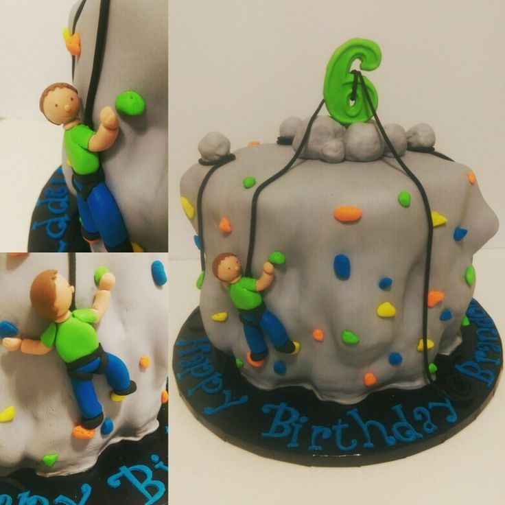 How To Make Rock Climbing Birthday Cake