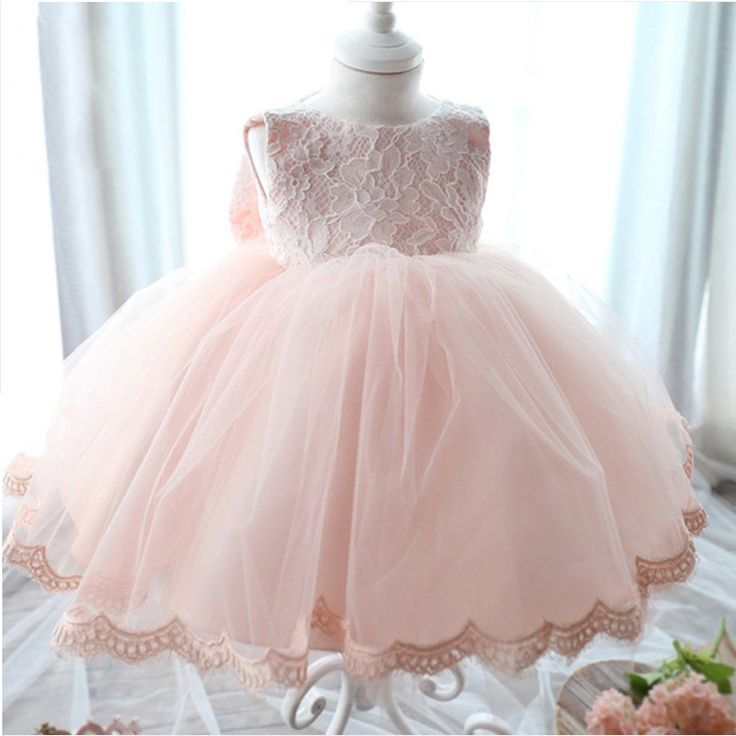Новорожденной Девочки Dress Красивое Платье Крещения Белый Первый День Рождения Детские Шифон Одежда Туту Тюль Малышей Девушка Одежда #jewelry, #women, #men, #hats, #watches, #belts