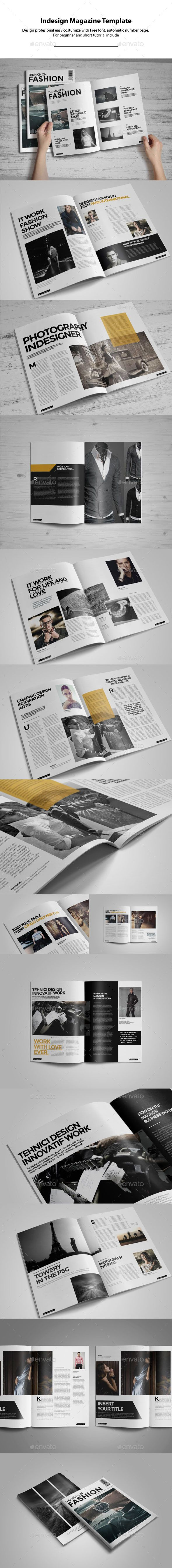 Indesign Magazine Template #design #journal Download: http://graphicriver.net/item/indesign-magazine-template/10635992?ref=ksioks