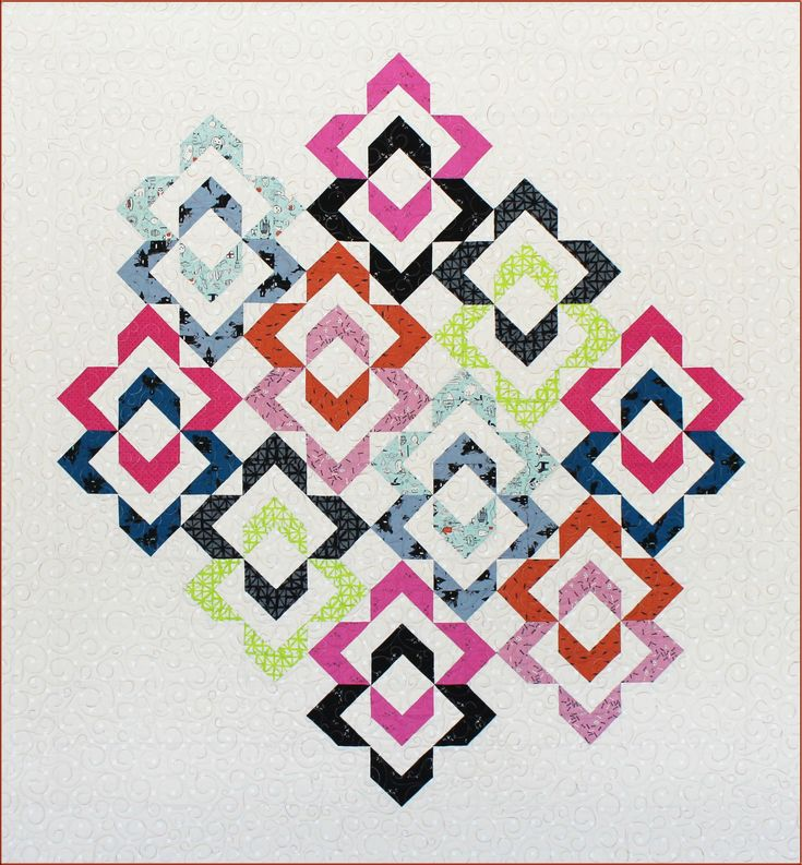 Love Links quilt pattern at Deb Tuckers Studio (half square triangles and flying geese)