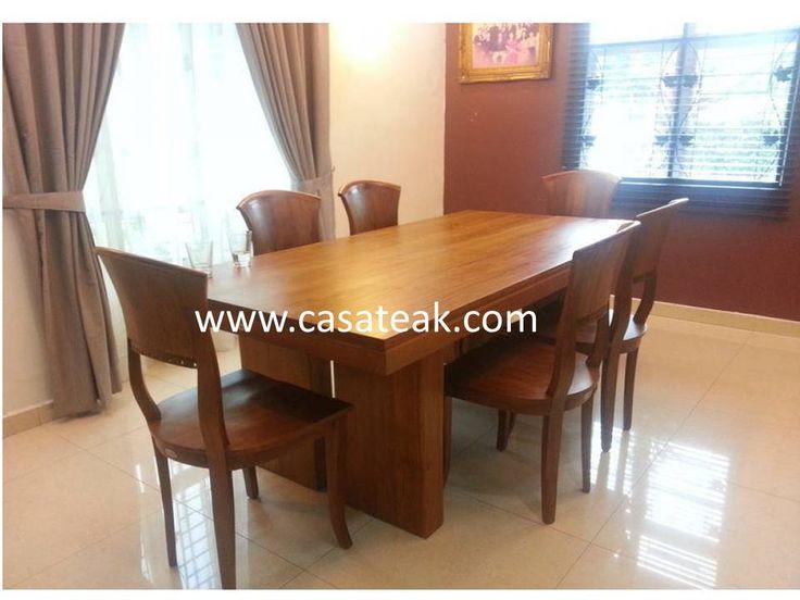 Teak Wood Dining Set Malaysia Teakwood Diningset Modernfurniture Woodfurniture