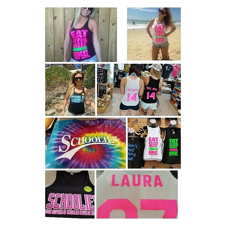#Schoolies #Singlets #Personalised #GlowSinglets #EatSleepSchooliesRepeat #LargestSelection #BestPrices #Customised #FluroPink #SurfersParadise #goldcoast  #CoastalExpressions