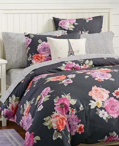 Floral bedding from pbteen dorm room trends pinterest student floral bedding and floral - A nice bed and cover for teenage girls or room ...