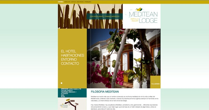 Web realizada para el hotel Meditean Lodge.