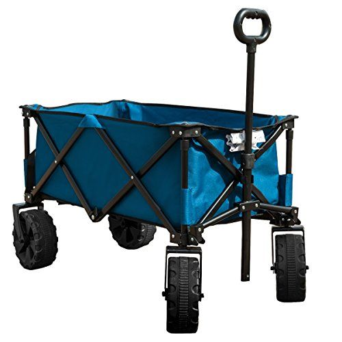 TimberRidge Folding rotating front wheels Camping Wagon/Cart - Collapsible Stur...
