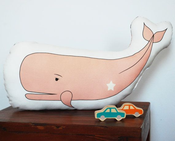 Pink Whale Plush Toy Stuffed Animal by katedurkin on Etsy, $28.00