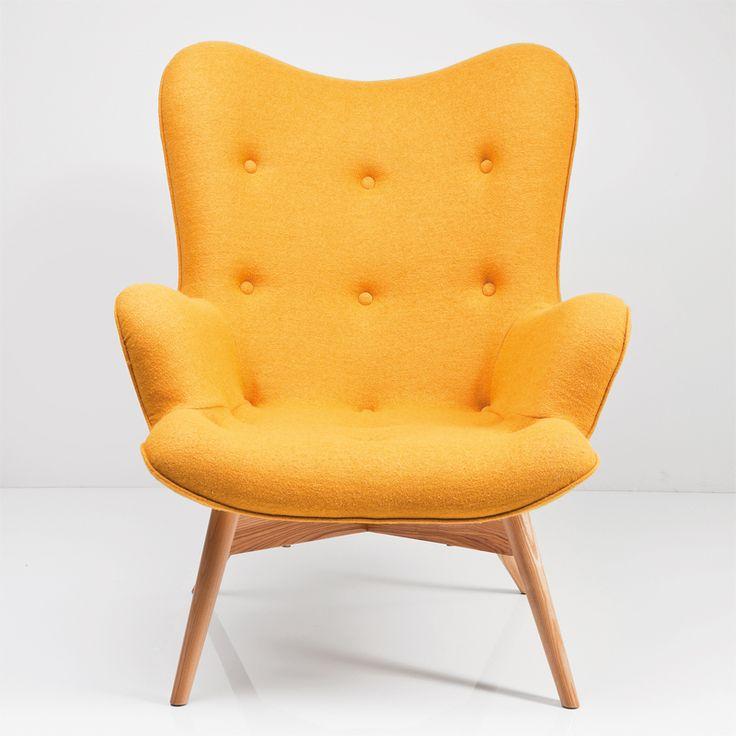 Hvorfor ikke friske opp i hjemmet med litt farger? Denne lenestolen er til salgs i vår nettbutikk www.bodesign.no - Fri frakt!