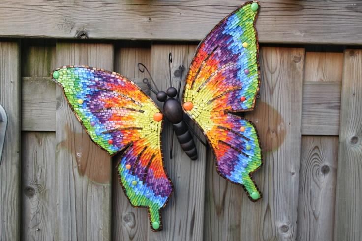 regenboog vlinder Verband met: vrolijk, kleuren, fantasie